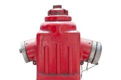 Κόκκινο μεταλλικό στόμιο υδροληψίας πυρκαγιάς ή σύνδεση πυροσβεστικής υπηρεσίας που απομονώνεται Στοκ Φωτογραφίες