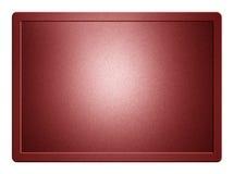 Κόκκινο μεταλλικό πιάτο Στοκ εικόνα με δικαίωμα ελεύθερης χρήσης