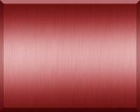 Κόκκινο μεταλλικό πιάτο Στοκ εικόνες με δικαίωμα ελεύθερης χρήσης