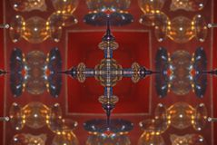 κόκκινο με την καφετιά φωτεινή ασιατική διακόσμηση Στοκ φωτογραφία με δικαίωμα ελεύθερης χρήσης