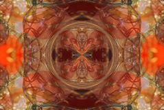 κόκκινο με την πορτοκαλιά φωτεινή διακόσμηση Στοκ Εικόνα
