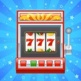 Κόκκινο μηχάνημα τυχερών παιχνιδιών με κέρματα Στοκ φωτογραφία με δικαίωμα ελεύθερης χρήσης