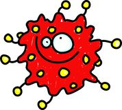 κόκκινο μικροβίων Στοκ φωτογραφία με δικαίωμα ελεύθερης χρήσης