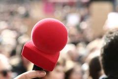 κόκκινο μικροφώνων Στοκ Φωτογραφίες