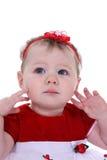 κόκκινο μικρό παιδί τριχώματος τόξων Στοκ Εικόνα