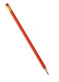 κόκκινο μολυβιών γομών Στοκ εικόνα με δικαίωμα ελεύθερης χρήσης