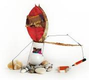 κόκκινο μολυβιών τεσσάρ&omega Στοκ φωτογραφίες με δικαίωμα ελεύθερης χρήσης
