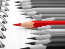κόκκινο μολυβιών Στοκ Φωτογραφία