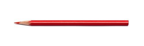 Κόκκινο μολυβιών που απομονώνεται Στοκ Φωτογραφίες