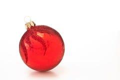 Κόκκινο μπιχλιμπίδι Χριστουγέννων Στοκ εικόνα με δικαίωμα ελεύθερης χρήσης