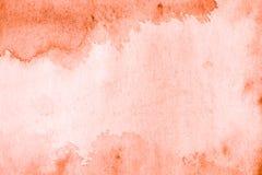 Κόκκινο μπλε χέρι υποβάθρου watercolor που χρωματίζεται Στοκ Εικόνες