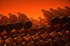κόκκινο μπουκαλιών Στοκ Εικόνες
