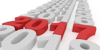 Κόκκινο νέο έτος αριθμών 2017 σε ένα άσπρο υπόβαθρο Στοκ φωτογραφία με δικαίωμα ελεύθερης χρήσης