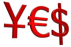 κόκκινο ναι Στοκ φωτογραφία με δικαίωμα ελεύθερης χρήσης