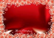 κόκκινο νιφάδων Χριστουγ Στοκ Φωτογραφία