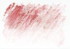 Κόκκινο ξηρό οριζόντιο συρμένο χέρι υπόβαθρο watercolor Όμορφα διαγώνια σκληρά κτυπήματα της βούρτσας χρωμάτων Στοκ Φωτογραφίες