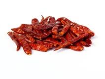 Κόκκινο ξηρό πιπέρι τσίλι, που απομονώνεται Στοκ φωτογραφίες με δικαίωμα ελεύθερης χρήσης