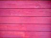 Κόκκινο ξύλινο υπόβαθρο slats Στοκ Φωτογραφίες