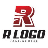 Κόκκινο λογότυπο ρ Στοκ Φωτογραφία