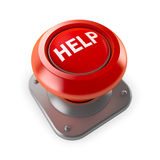 κόκκινο οδηγιών κουμπιών Στοκ Εικόνες
