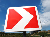 κόκκινο οδικό λευκό δει Στοκ Φωτογραφίες