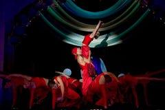 κόκκινο ομάδας χορού Στοκ Εικόνα