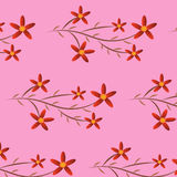 Κόκκινο λουλουδιών υποβάθρου Στοκ φωτογραφία με δικαίωμα ελεύθερης χρήσης