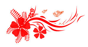 κόκκινο λουλουδιών Διανυσματική απεικόνιση