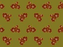 Κόκκινο λουλούδι στο πράσινο σχέδιο Στοκ Φωτογραφία