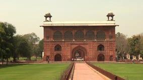 Κόκκινο οχυρό Δελχί Ινδία Khana Naqqar Naqqar Khana ένα μεμονωμένα διαμορφωμένο κτήριο τυμπάνων στο κόκκινο οχυρό, Δελχί, Ινδία,  φιλμ μικρού μήκους