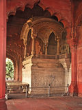 Κόκκινο οχυρό Δελχί καθισμάτων diwan-ε-AM αυτοκράτορα (2) Στοκ Φωτογραφία