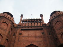 Κόκκινο οχυρό Δελχί Ινδία - είσοδος Στοκ φωτογραφία με δικαίωμα ελεύθερης χρήσης