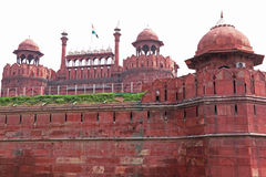 Κόκκινο οχυρό, παλαιό Δελχί Στοκ Φωτογραφία