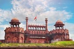 Κόκκινο οχυρό στην Ινδία στοκ φωτογραφία