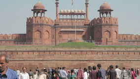 Κόκκινο οχυρό της Ινδίας Δελχί απόθεμα βίντεο