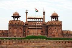Κόκκινο οχυρό της Lal Qila στο Δελχί Στοκ εικόνες με δικαίωμα ελεύθερης χρήσης