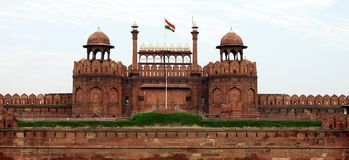 Κόκκινο οχυρό της Lal Qila στο Δελχί Στοκ Εικόνα