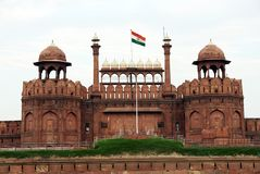 Κόκκινο οχυρό της Lal Qila στο Δελχί Στοκ Εικόνες