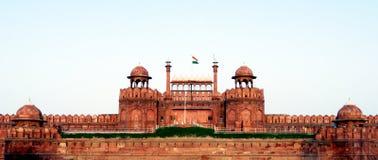 Κόκκινο οχυρό της Lal Qila στο Δελχί Στοκ Φωτογραφία