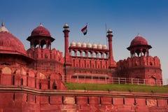 κόκκινο οχυρών του Δελχί στοκ εικόνες με δικαίωμα ελεύθερης χρήσης