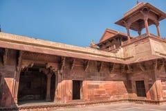 κόκκινο οχυρών agra Περιοχή παγκόσμιων κληρονομιών της ΟΥΝΕΣΚΟ στοκ φωτογραφία με δικαίωμα ελεύθερης χρήσης