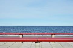 κόκκινο πάγκων Στοκ Εικόνες