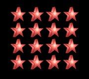 Κόκκινο πέντε δειγμένο αστέρι Στοκ Εικόνα