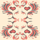 Κόκκινο πέταλο του χρώματος σχεδίων ταπετσαριών Στοκ φωτογραφίες με δικαίωμα ελεύθερης χρήσης