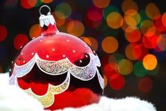 κόκκινο παιχνίδι καρτών ζωγραφικής Χριστουγέννων Στοκ εικόνες με δικαίωμα ελεύθερης χρήσης