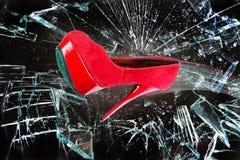 Κόκκινο παπούτσι μόδας Στοκ φωτογραφία με δικαίωμα ελεύθερης χρήσης