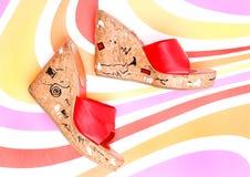 κόκκινο παπούτσι Στοκ Εικόνες