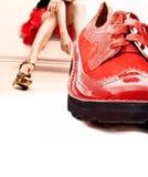 κόκκινο παπούτσι στοκ φωτογραφίες