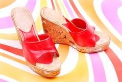 κόκκινο παπούτσι Στοκ εικόνες με δικαίωμα ελεύθερης χρήσης