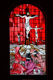 κόκκινο παράθυρο πλακακ Στοκ Φωτογραφίες